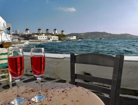 Sfeerimpressie Mykonos & Santorini