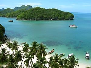 Sfeerimpressie Laos totaal met tropisch strand